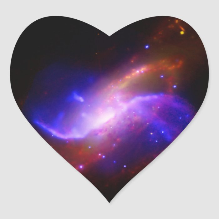 NASAs spiral galaxy M106 Heart Sticker