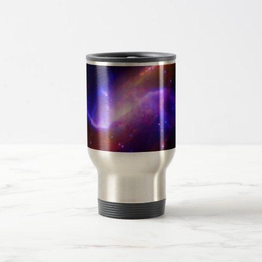 NASAs spiral galaxy M106 15 Oz Stainless Steel Travel Mug