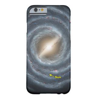 NASAs Sun en la vía láctea Funda Para iPhone 6 Barely There