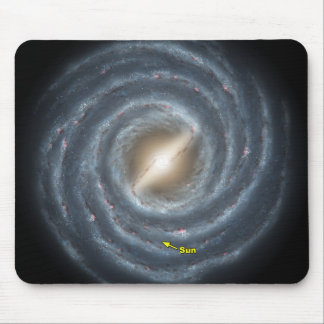 NASAs Sun en la vía láctea Tapetes De Ratones