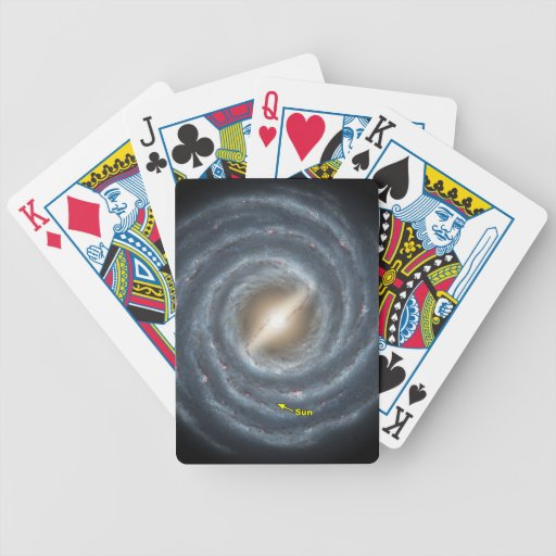 NASAs Sun in the Milky way Bicycle Card Decks
