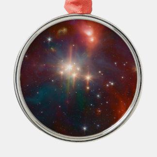 NASAs - The Coronet Cluster Round Metal Christmas Ornament