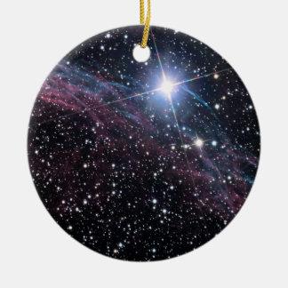 NASAs Veil Nebula Ceramic Ornament