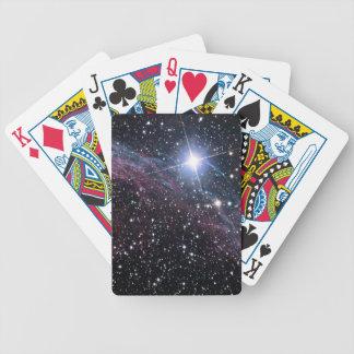 NASAs Veil Nebula Bicycle Poker Cards