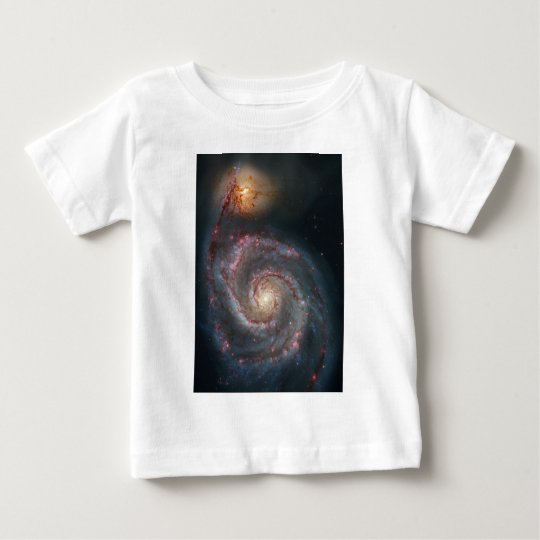 NASAs Whirlpool galaxy Baby T-Shirt