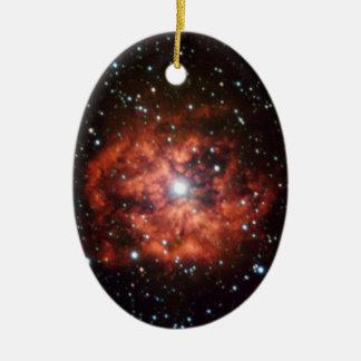 NASAs Wolf-Rayet star Double-Sided Oval Ceramic Christmas Ornament