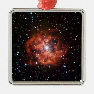 NASAs Wolf-Rayet star Square Metal Christmas Ornament
