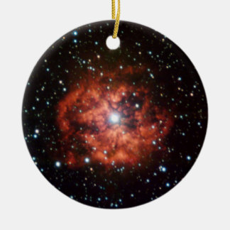 NASAs Wolf-Rayet star Double-Sided Ceramic Round Christmas Ornament