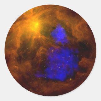 NASAs X-Ray Santa Claus in Orion Round Sticker