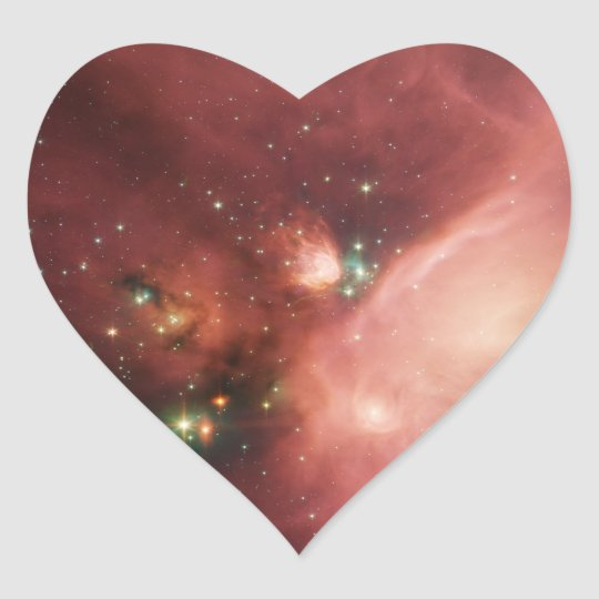 NASAs Young Stars Heart Sticker