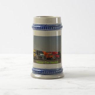 Nascar Car Haulers 18 Oz Beer Stein