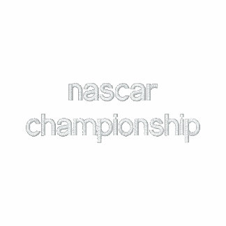 nascar championship embroidered hoodie