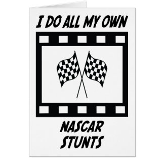 NASCAR Stunts Greeting Cards