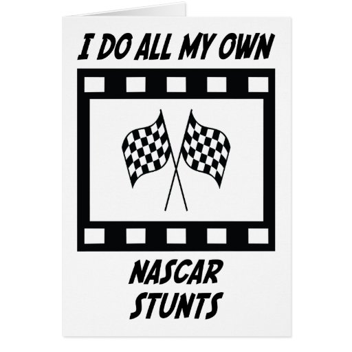 NASCAR Stunts Greeting Cards