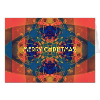 Nascent Yellow Funky Bright Abstract Card