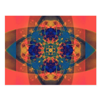 Nascent Yellow Funky Bright Abstract Postcard
