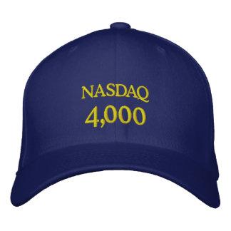 NASDAQ 4000 GORRA DE BÉISBOL BORDADA