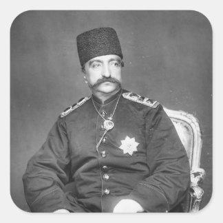 Naser al-Din Shah Qajar of Persia Square Sticker