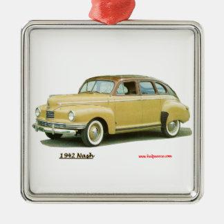 Nash 1942 adorno navideño cuadrado de metal