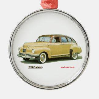Nash 1942 adorno navideño redondo de metal
