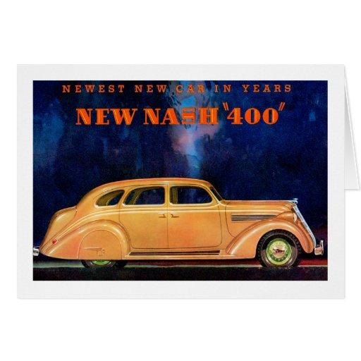 Nash 400 ~ Vintage Automobile / Car Advertisement Greeting Cards