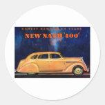 Nash 400 ~ Vintage Automobile / Car Advertisement Round Sticker