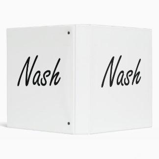 Nash Artistic Name Design Binder