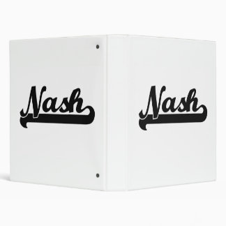 Nash Classic Retro Name Design Binders