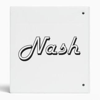 Nash Classic Retro Name Design 3 Ring Binders