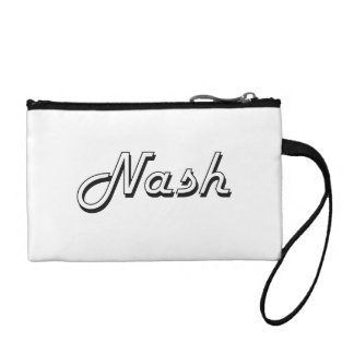Nash Classic Retro Name Design Coin Purse