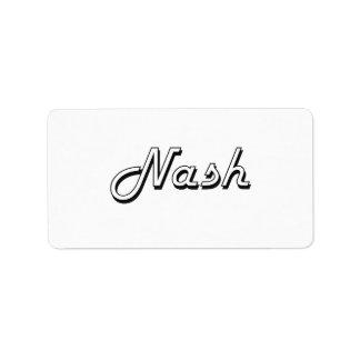 Nash Classic Retro Name Design Address Label