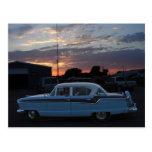 Nash en la puesta del sol tarjeta postal