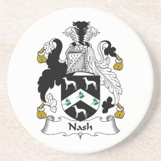 Nash Family Crest Drink Coaster