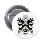 Nash Family Crest Pinback Buttons