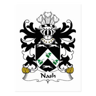 Nash Family Crest Postcard