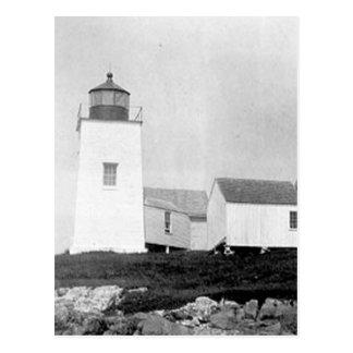 Nash Island Lighthouse Postcard