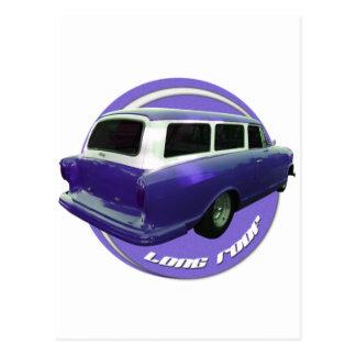 nash long roof grape station wagon postcard
