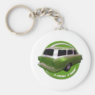 nash long roof green station wagon keychain