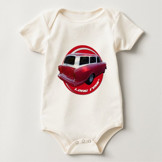 nash long roof station wagon  red baby bodysuit