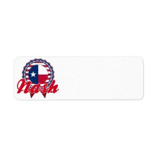 Nash, TX Return Address Label