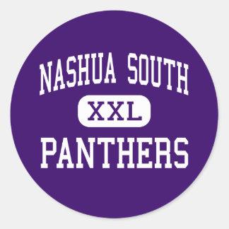 Nashua South - Panthers - High - Nashua Round Stickers