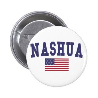 Nashua US Flag Button
