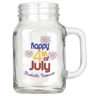 Nashville 4th of July Mason Jar (20 oz)