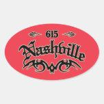 Nashville 615 oval sticker