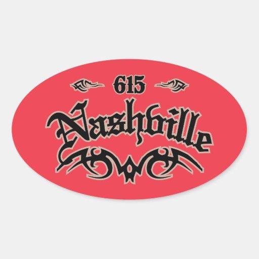 Nashville 615 pegatina ovalada