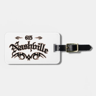 Nashville 615 tag for luggage