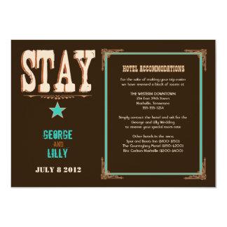 Nashville Accommodation Card:  Turquoise 4.5x6.25 Paper Invitation Card