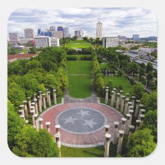 Nashville Aerial photo Square Sticker