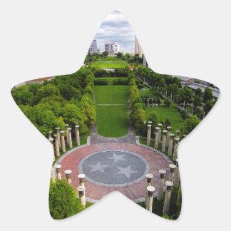 Nashville Aerial photo Star Sticker