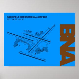 Nashville Airport (BNA) Diagram Poster